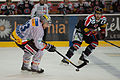 Gianni Ehrensperger (L), Michal Barinka (R) - Fribourg-Gotteron vs. HC Bienne, 25.11.2011.jpg