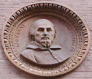 Giovanni Buonconsiglio - Portrait of Giovanni Buonconsiglio on the Palazzo Thiene in Vicenza