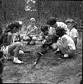 Girl Scouts learning to build a fire at Lake Andrews near Tallahassee, Florida (11222543793).jpg