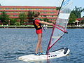 Girl at windsurfing school.JPG