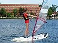 Girl at windsurfing school.JPG
