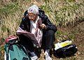 Giro d'Italia 2012, kranige dame op de alpe de pampeago (17784024752).jpg