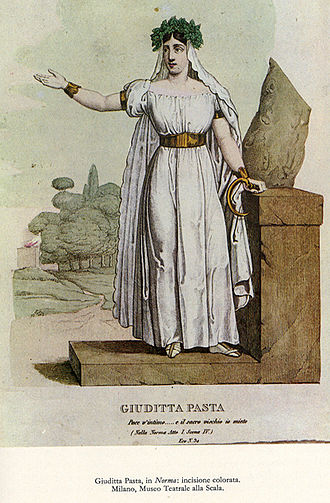 Norma (opera) - Giuditta Pasta for whom the role of Norma was created