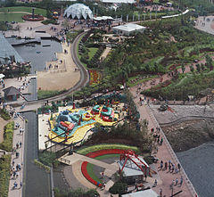 An Overhead View Of The 1988 Glasgow Garden Festival Site.