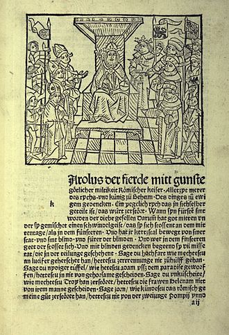Golden Bull of 1356 - Incunable of the Golden Bull in Early New High German, late 15th century, University of Jena