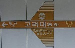 Korea University Station - Korea University Station
