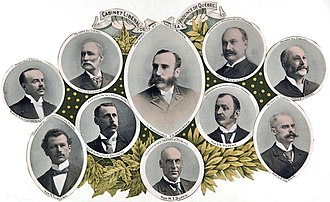 Quebec Liberal Party - Members of the 1897 Marchand government.