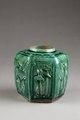 Grön burk för ingefära gjord av lergods i Kina på 1800-talet - Hallwylska museet - 95895.tif