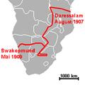 Graetz Autoroute Afrika 1907-1909.png