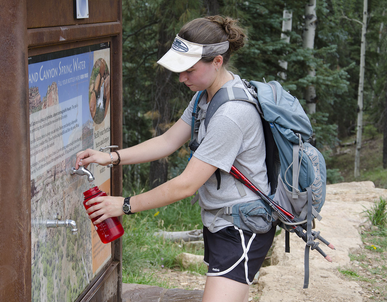 Dog Water Bottle >> File:Grand Canyon National Park, North Kaibab Trailhead - Water Bottle Filling Station 7089 ...