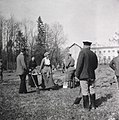 Grand Duchess Tatiana carrying a litter of dirt during internment at Tsarskoe-Selo 1917.jpg