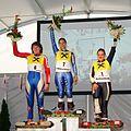 Grass Skiing World Championships 2009 Giant Slalom Women Flower Ceremony.jpg