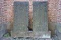 Gravminne gravplate i støpejern Kjerstine Hansdaatter 1664-1711 Maren Hansdaatter 1671-1712 (18c cast iron plate grave epitaph) Tønsberg domkirke Norway 2020-08-25 03173.jpg
