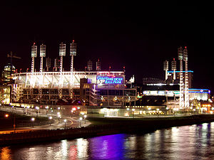 Great American Ball Park - Great American Ball Park at night