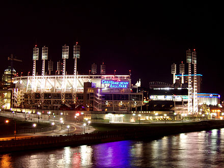 Great American Ball Park opened in 2003 along the Ohio River. Great-american-ball-park.jpg