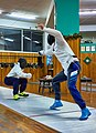 Greek Epee Fencers. A highlight from the bout between Agapitos Papadimitriou (left) and Ilias Konstantinidis (right).jpg