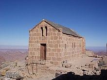 Cappella greco-ortodossa sulla cima del Sinai