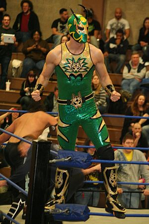 The Colony (professional wrestling) - Green Ant in 2012