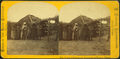 Group of Indians and mud lodge in Pawnee village, by Carbutt, John, 1832-1905.png
