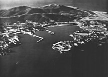 Cuba-Revolution and Communist party rule (1959–present)-Guantanamo Naval Base aerial photo 1962