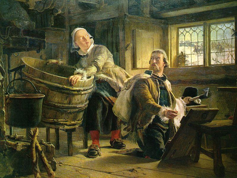 Gustaf Vasa och Tomt-Margit Målning av Johan Fredrik Höckert.jpg