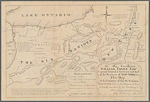 Guy Johnson Map, 1771