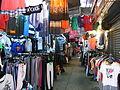 HK CWB Jardine's Crescent morning outdoor market stalls clothing corridor Aug-2012.JPG