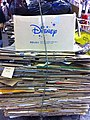 HK Mongkok Sai Yeung Choi Street South night Disney cardboard papers printed Korean words Oct-2012.JPG