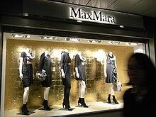 Max Mara shop window. Max Mara is an Italian fashion business. 35d771d8aa7