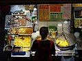 HK Wan Chai 柯布連道 O'brien Road night Lockhard Road Hong Kong Building sidewalk shop street snack food April 2016 DSC (4).JPG