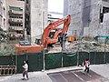 HK tram 102 view 香港島北 Island North Sheung Wan Des Voeux Road Central China Merchants construction site November 2020 SS2 03.jpg
