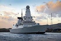 HMS Defender Arriving in Glasgow MOD 45156381.jpg