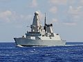 HMS Dragon (D35) underway in the Med 2013.JPG