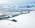 HMS Endurance photographed by one of her Lynx helicopters. MOD 45147619.jpg