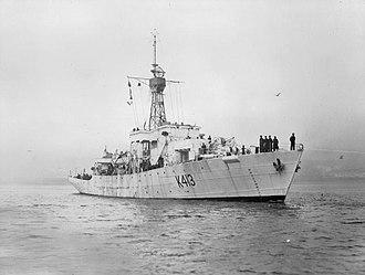 HMS Farnham Castle (K413) - Image: HMS Farnham Castle WWII IWM FL 13067