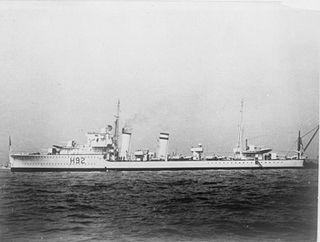 HMS <i>Glowworm</i> (H92) G-class destroyer built for the Royal Navy in the mid-1930s