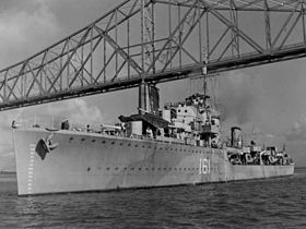 Die HMS Ilex 1942 in Charleston