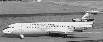Hawker Siddeley Trident - Trident 1E G-AVYB of Channel Airways