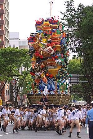 Hakata Gion Yamakasa - Image: Hakata gion yamakasa 2005 01