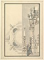 Half Elevation and Half Ground Plan for a Catafalque for an Electress Palatine MET DP820083.jpg
