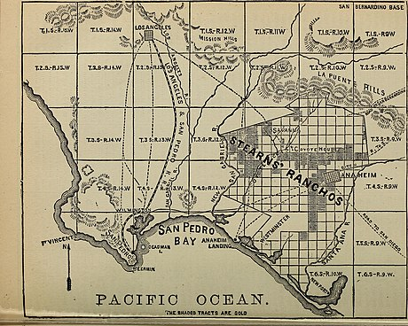 Stearns' Ranchos, 1875 Hand-book and directory of San Luis Obispo, Santa Barbara, Ventura, Kern, San Bernardino, Los Angeles and San Diego counties, with a list of the post-offices of the Pacific coast (1875) (14773965104).jpg