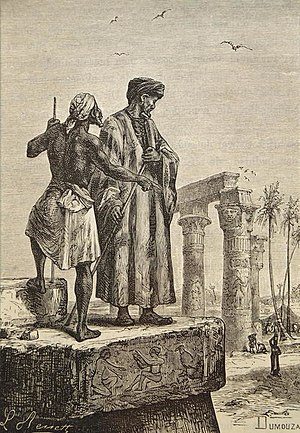 Handmade oil painting reproduction of Ibn Battuta in Egypt, a painting by Hippolyte Leon Benett..jpg