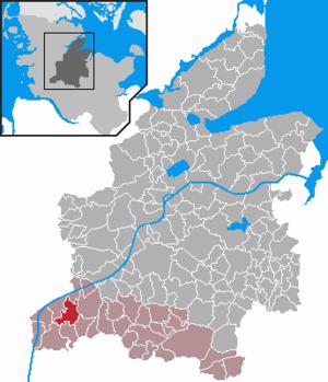 Hanerau-Hademarschen - Image: Hanerau Hademarschen in RD
