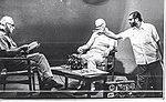 Hasmukh Baradi with Arthur C Clarke and Yashpal.jpg