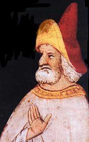 El Viejo de la Montaña en una representación cristiana medieval.