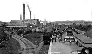 Heathfield (Devon) railway station - Image: Heathfield station, South Devon, 1906