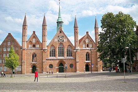 The Hospital of the Holy Spirit in Lubeck, established in 1286, is a precursor to modern hospitals. Heiligen-Geist-Hospital in Lubeck.JPG