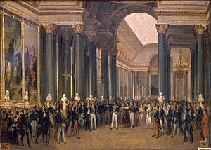 Galerie des Batailles - Image: Heim, François Joseph Louis Philippe Opening the Galerie des Batailles 1837