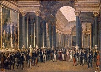 Galerie des Batailles - Louis-Philippe opening the Galerie des Batailles, 10 June 1837 (painted by François-Joseph Heim)