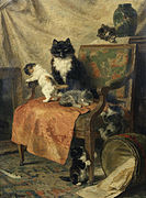 Henriette Ronner-Knip Kittens at play.jpg